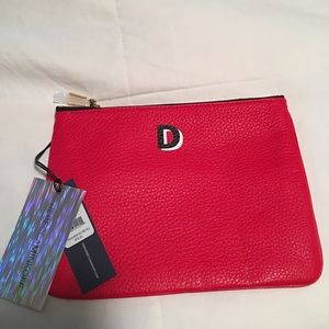 "Rebecca Minkoff ""D"" Initial leather pouch"
